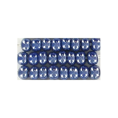 Seed beads, rocaille luster dark blue