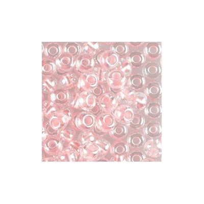 Preciosa seed beads, rocaille, size 6/0, loose, pink pearl pastel lining