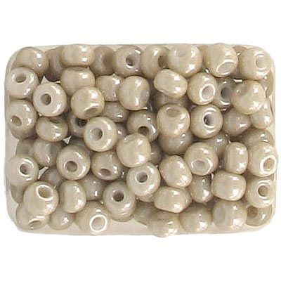 Seed beads, rocaille loose luster sand beige