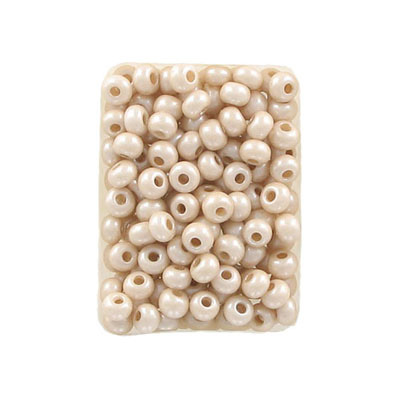 Seed beads, rocaille 6/0, loose, nude