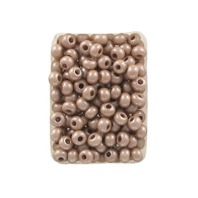 Seed beads, rocaille 6/0, loose, latte