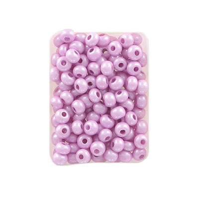Seed beads, rocaille 6/0, loose, lilac