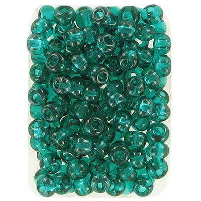Seed beads, rocaille loose, 6/0, green