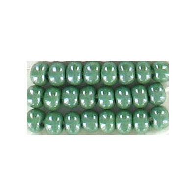 Seed beads, rocaille luster sea green