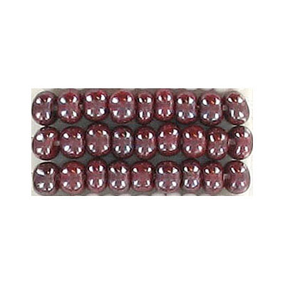 Seed beads, rocaille luster garnet