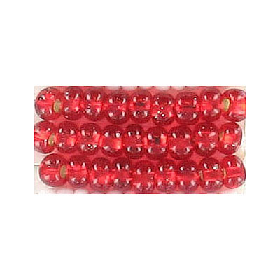 Seed beads, rocaille bead loose red size 6