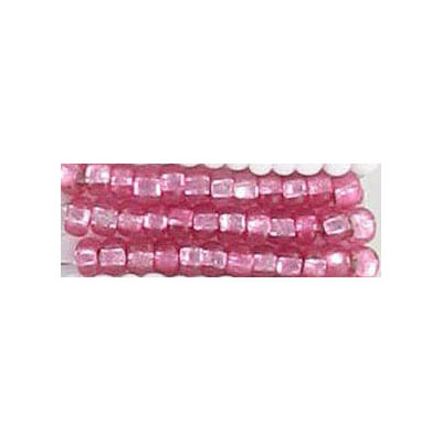 Seed beads, rocaille transparent pink silver lined with square hole