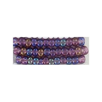 Seed beads, rocailles tran. amethyst