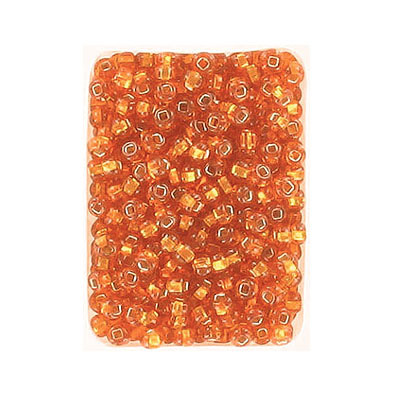 Seed beads, rocaille orange #8 loose
