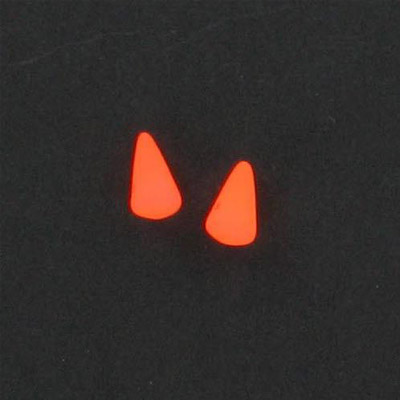 Glass neon beads, 5x8mm spike, fluorescent orange