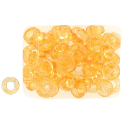 Seed beads, rocaille loose 32/0 yellow sol gel