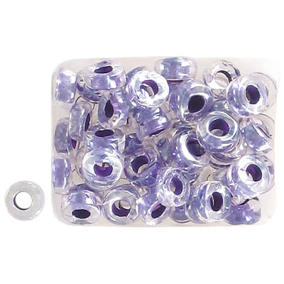 Seed beads, rocaille loose 32/0 purple lined