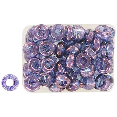 Seed beads, rocaille loose 32/0 purple luster