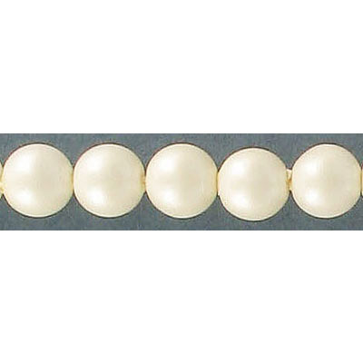 Plastic pearl, 8mm, matte oyster