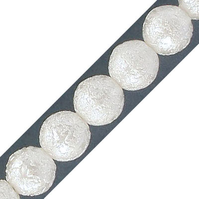Glass pearls, ice, 10mm, oyster, 40 beads per strand, 16 inch strand