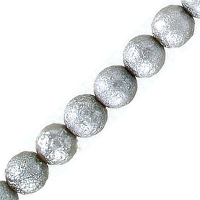 Glass pearls, ice, 8mm, silver sand, 50 beads per strand, 16 inch strand