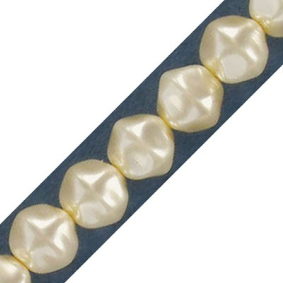 Glass pearls Czech, baroque, 8mm, oyster