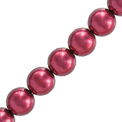 Glass pearls Czech, 8mm, red