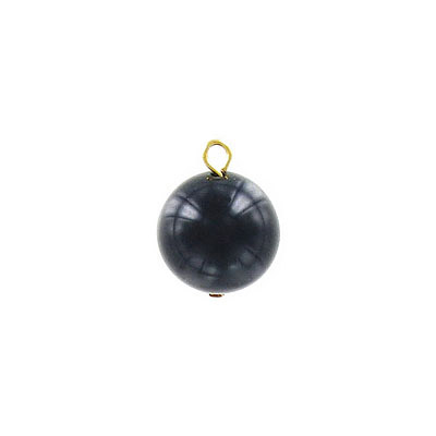 Plastic pearl, 15mm, black