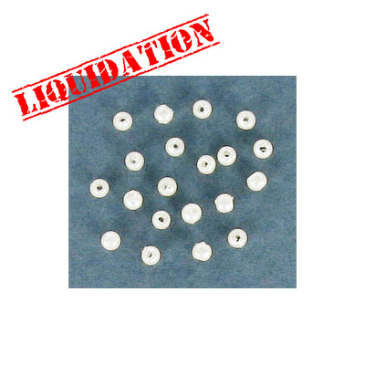 Plastic pearls, 2.5mm, white