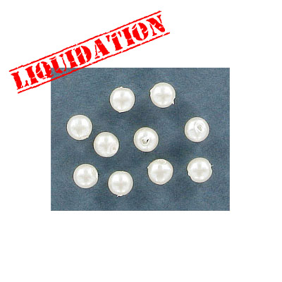 Plastic pearls, 5mm, white