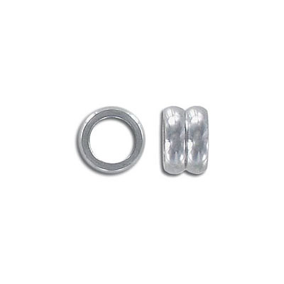 Metal beads, 6x10mm, 6mm inside diameter, stainless steel