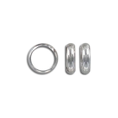Metal beads, 10x3mm, rondelle, inside diameter 8mm, stainless steel, grade 304l