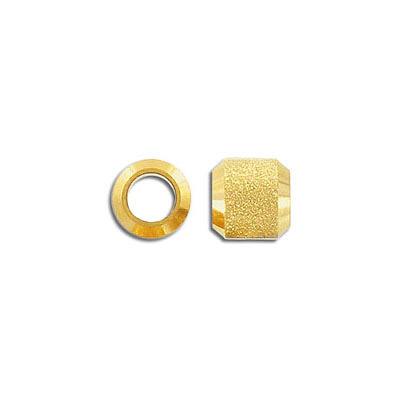 Metal beads, 10x10mm, stardust bead, 6mm inside diameter, stainless steel, 304l, gold vacuum plating