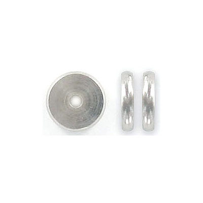 Metal beads, 10x2mm, rondelle, inside diameter 2mm, stainless steel