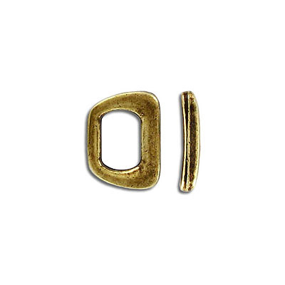 Metal bead, 14x10mm, spacer, incide diameter 10x6mm, antique brass