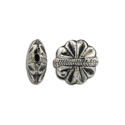 Metal beads, antique silver plated