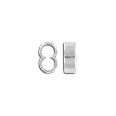 Metal bead, 13x5mm, 2-hole (5mm) slider, antique silver