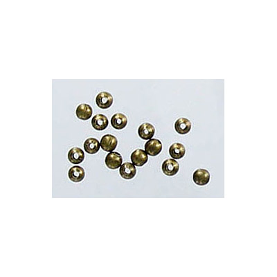 Metal beads, 2mm, hole size 0.6mm, antique brass