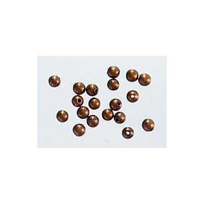 Metal beads, 2mm, hole size 0.6mm, antique copper