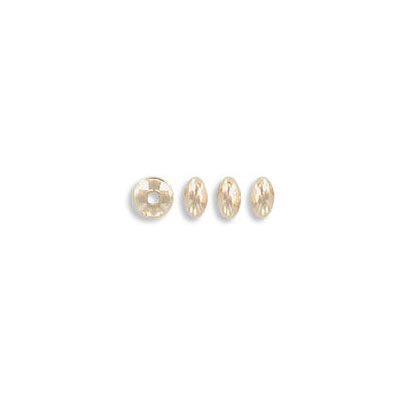 Metal beads, 3.6mm, smooth saucer, inside diameter 0.8mm, gold filled, gold plate