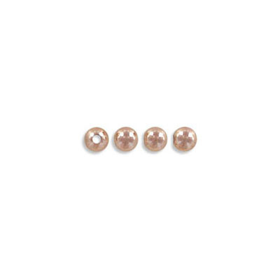 Metal beads, 3mm, inside diameter 1.5mm, rose gold filled