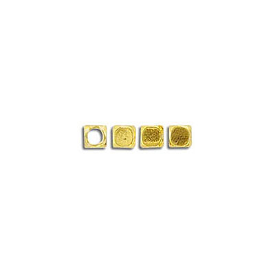 Metal bead, 3x3mm, gold plate