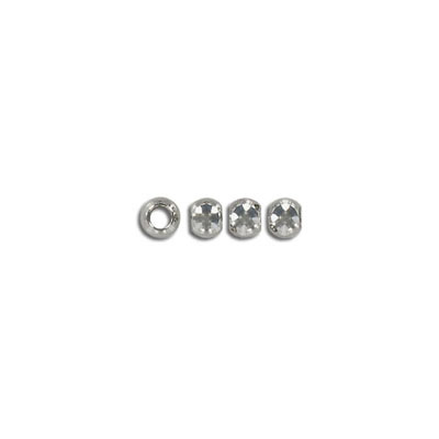 Metal beads, (4153)  nickel plated
