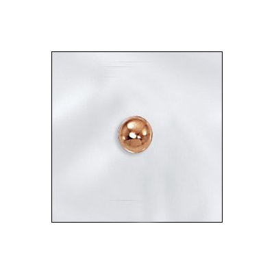 Metal bead, 4mm round seamless bead with 1.5mm hole, gold filled, gold plate
