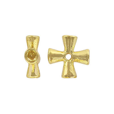 Metal beads, cross,  gold plated