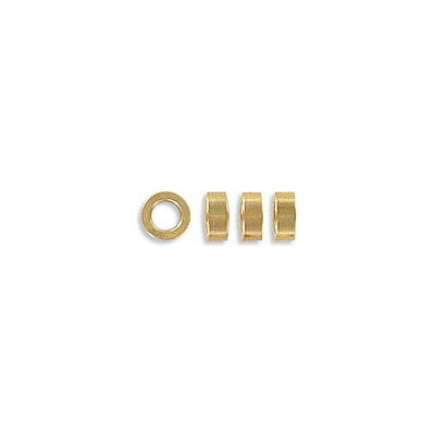 Metal beads, 5x2mm, rondelle, inside diameter 3mm, stainless steel, gold vacuum plating