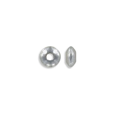 Metal beads, 6x3mm, rondelle, approx. hole size 2mm, stainless steel, 304L