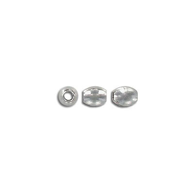Metal bead, 6x5mm, inside diameter 2mm, stainless steel