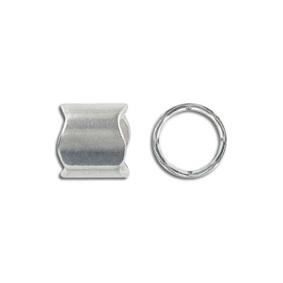 Metal bead, 12x11mm, irregular, inside diameter 10mm, zink alloy, antique silver, nickel free. Made in Europe