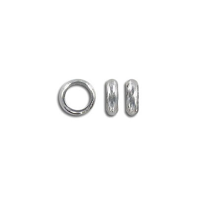 Metal beads, 7x2mm, rondelle, inside diameter 5mm, stainless steel, grade 304l
