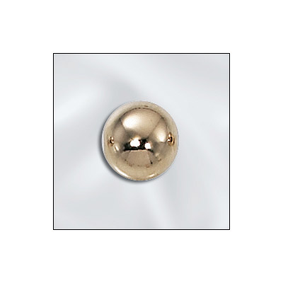Metal bead, 8mm, round seamless bead with 2.2mm hole, gold filled, gold plate