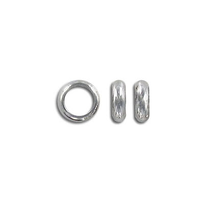 Metal beads, 8x2.5mm, rondelle, inside diameter 6mm, stainless steel, grade 304l