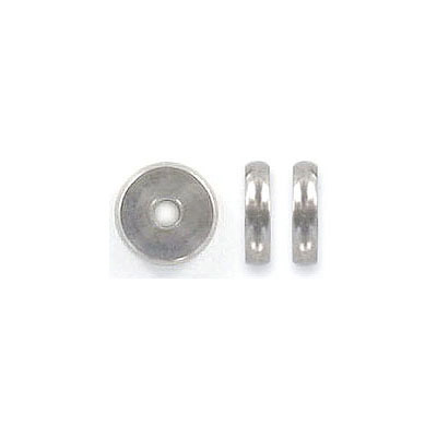 Metal beads, 8x2mm, rondelle, inside diameter 2mm, stainless steel