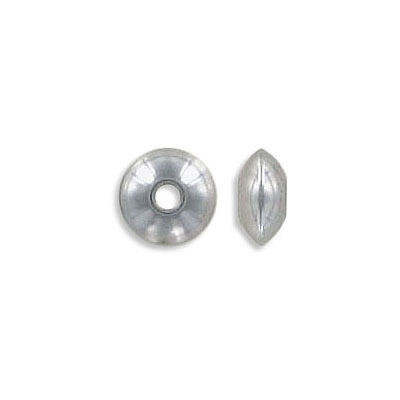 Metal beads, 8x4mm, rondelle, approx. hole size 2mm, stainless steel, 304L