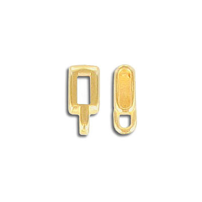 Metal beads, 8x5mm, spacer with loop, gold plate, zinc alloy (zamak)